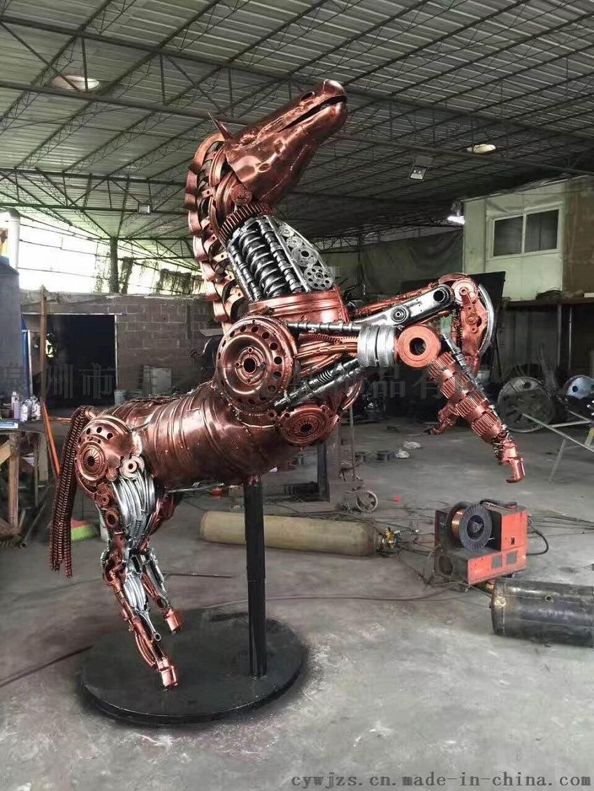 金属动物摆件 金属园艺 大型园艺铁艺动物