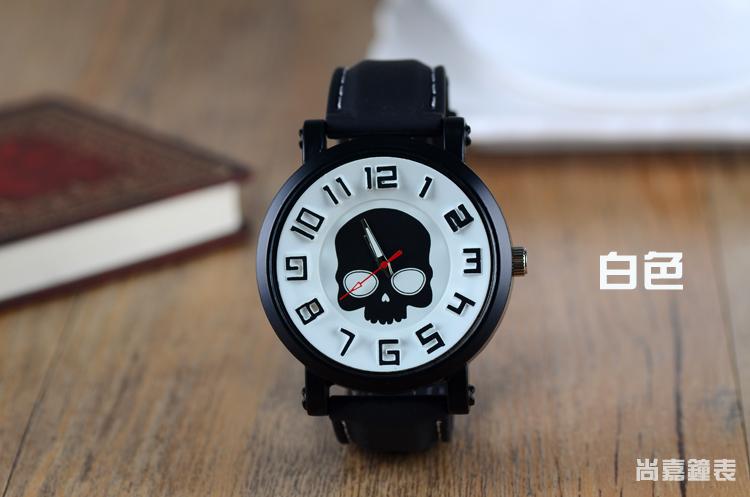 手表大表盘性格女生时尚骷髅头男生女生学生手表天秤座的图片