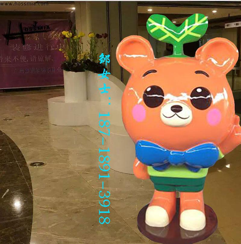 卡通大嘴猴玻璃钢雕塑 商场幼儿园装饰摆设 合成树脂雕塑动漫人偶