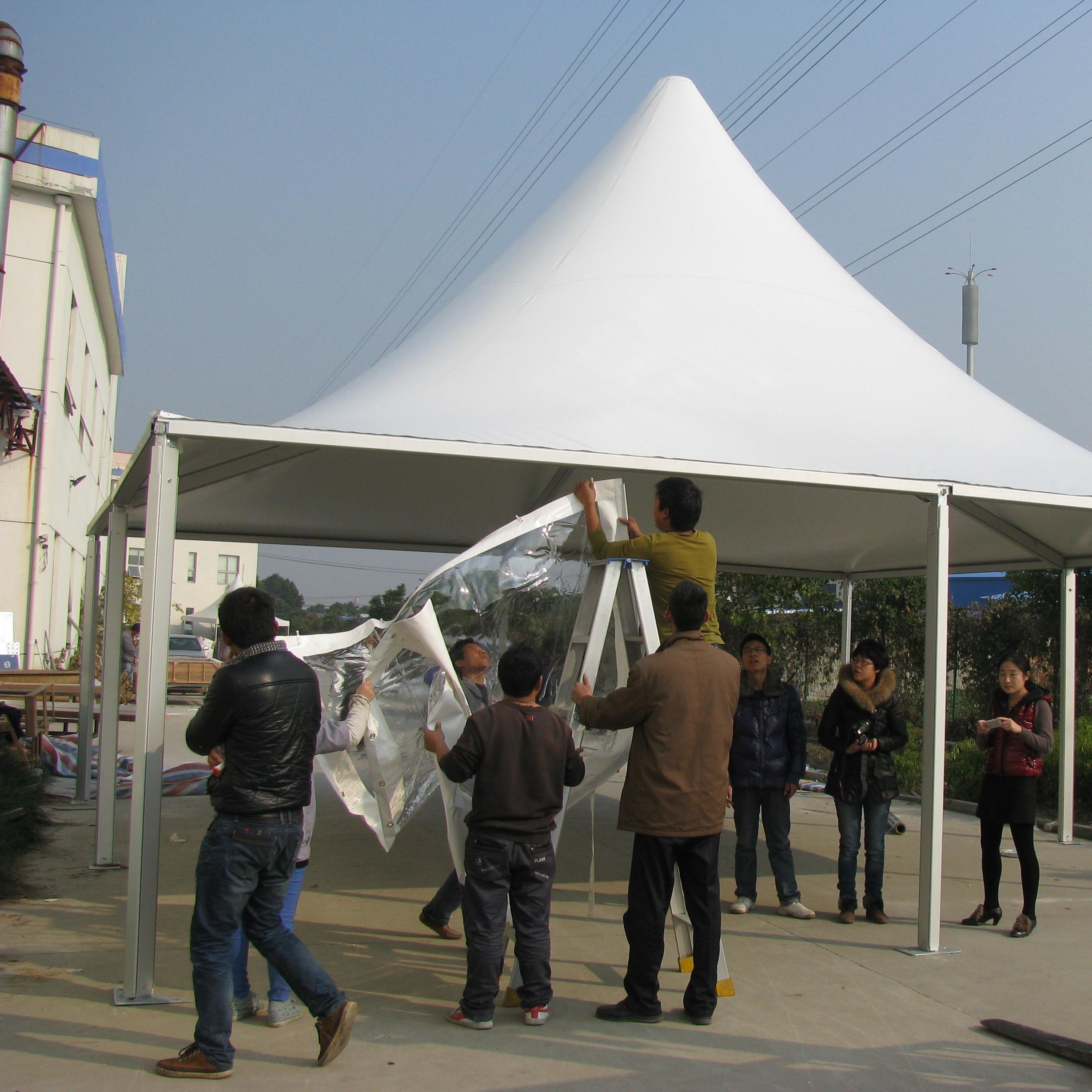 户外大型尖顶帐篷 欧式铝合金活动婚礼篷房12*12m图片