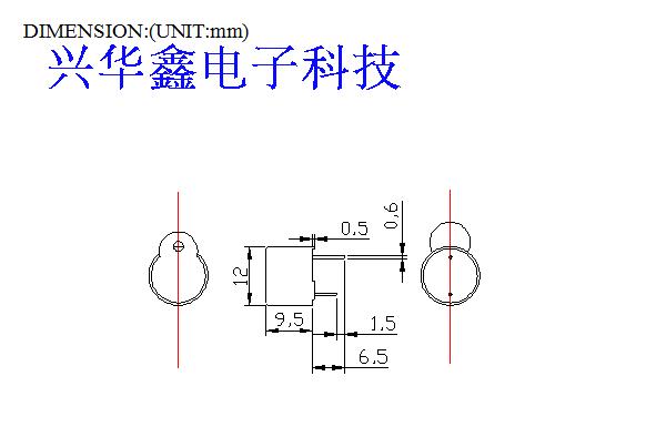 5v有源蜂鸣器电路_兴华鑫tmb-12a05一体有源5v电磁式12095蜂鸣器