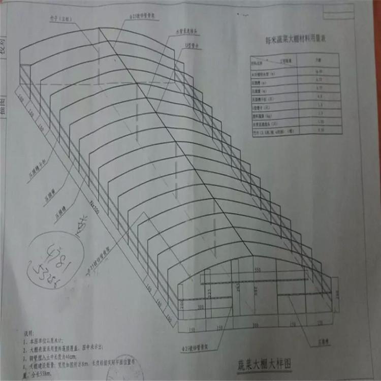 厂家直销.gp832型温室大棚 蔬菜大棚 连体葡萄钢架避雨棚图片