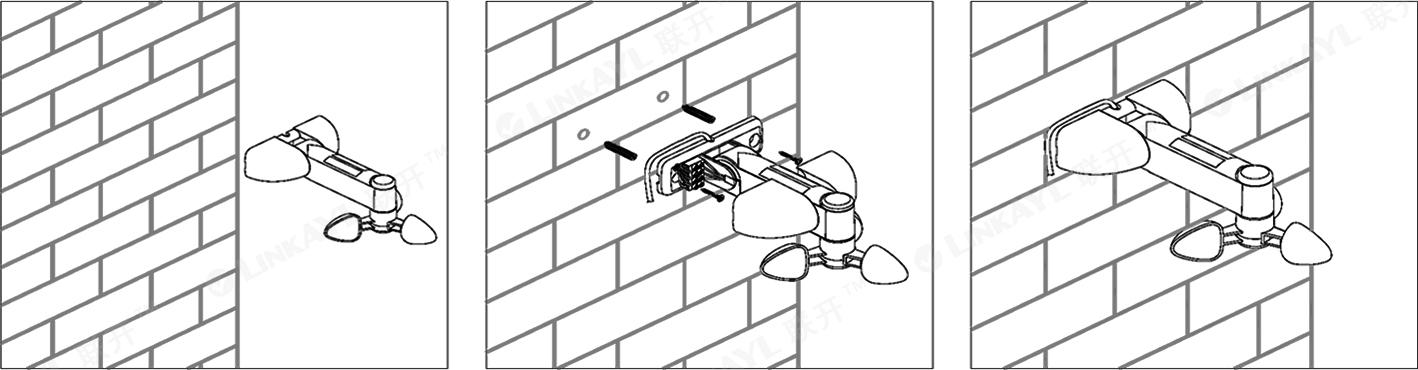 lk-wlr002 智能家居开窗系统无线风光雨感应器开窗器图片