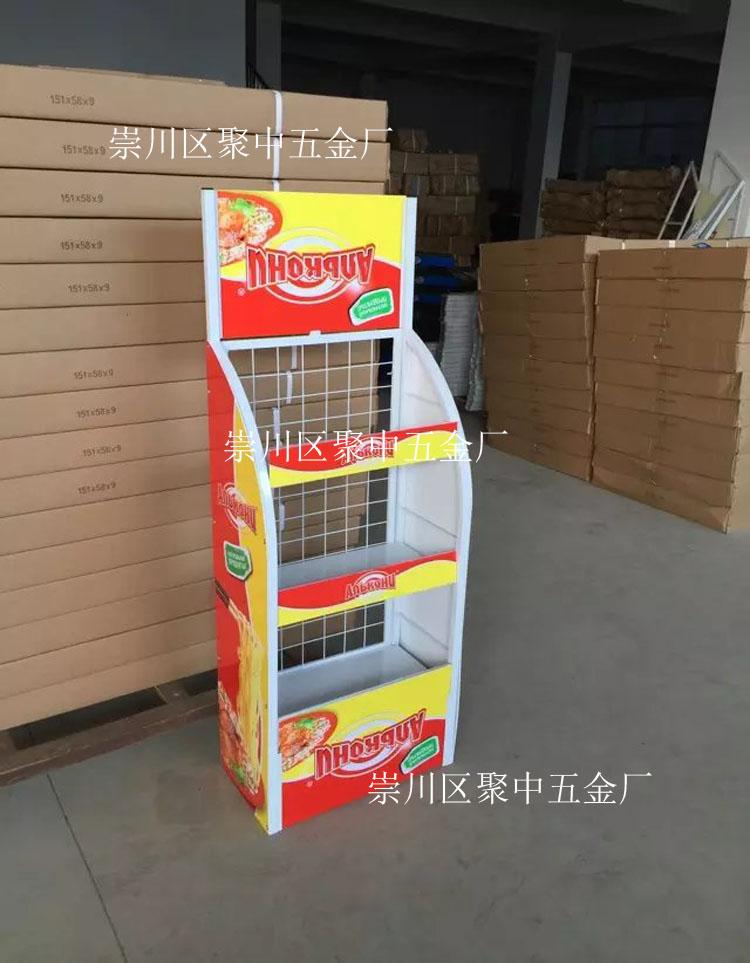 厂家定制 超市便利店食品展示架 方便面陈列架 单面促销货架图片