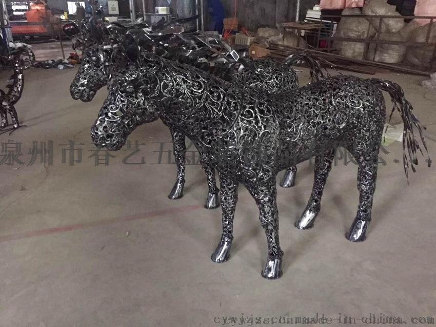 惠安大型马摆件 石狮大型金属摆件 铁艺动物大象