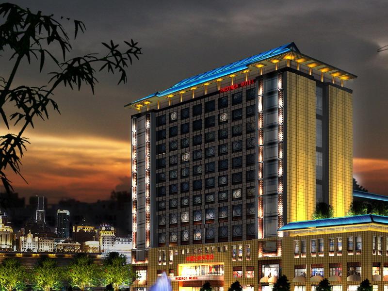 酒店室外夜景方案 商务          星级酒店灯光施工设计图片