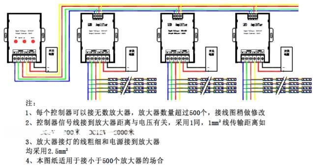 控制器与放大器接线示意图图片