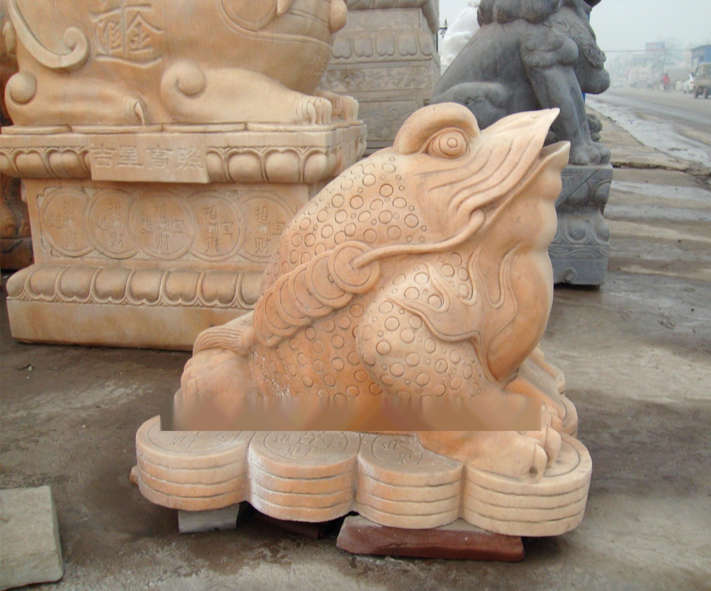 加工定做喷水金蟾石雕 招财进财动物雕塑