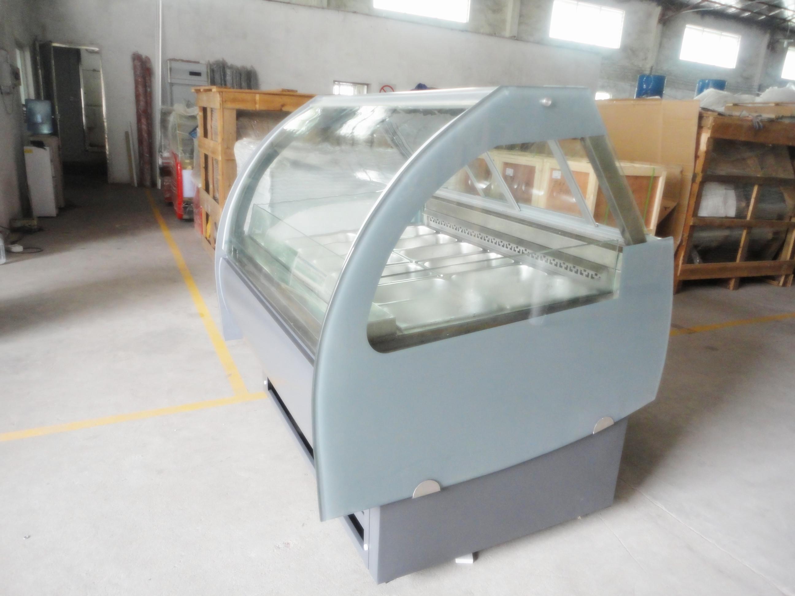 冰淇淋柜整体精心设计,l形外观可爱大方;◆ 采用名牌全封闭式压缩机