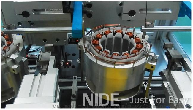 全自动双工位无刷直流电机定子绕线机内绕机