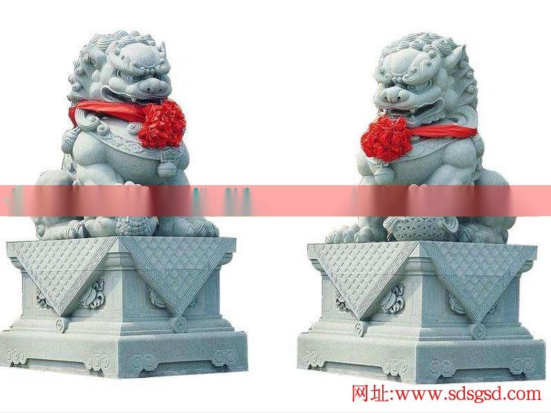 石狮子价格石狮子雕刻制作_石雕狮子厂家_石雄狮石雕狮子加工图片