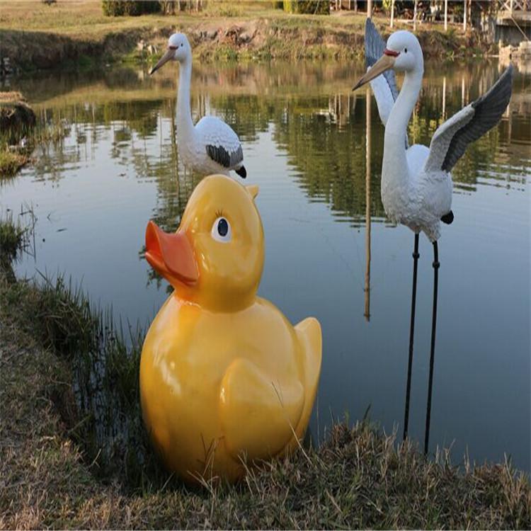 深圳欧泰斯艺术雕塑树脂工艺品园林摆饰动物吉祥物喜庆开张摆饰大黄鸭