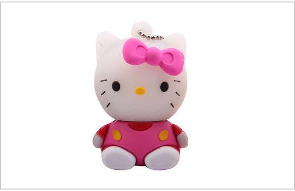 厂家批发hellokitty凯蒂猫u盘卡通8g创意优盘16g可爱猫咪礼品 可印