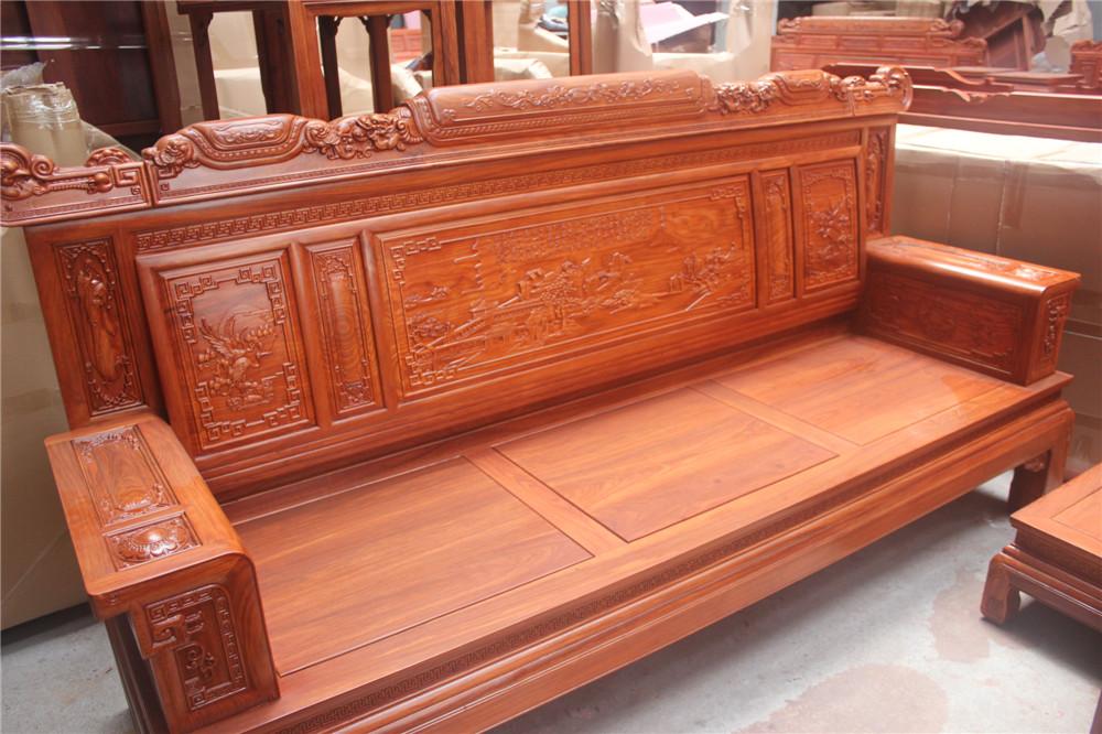 """""""兰亭序沙发定做红木家具价格,东阳木雕款式,古典家具图,全实木家具""""图片"""