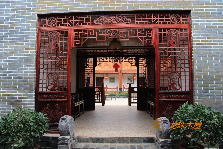 龙珠 木屋木结构 休闲度假酒店 木别墅制造商家 中州府四合院