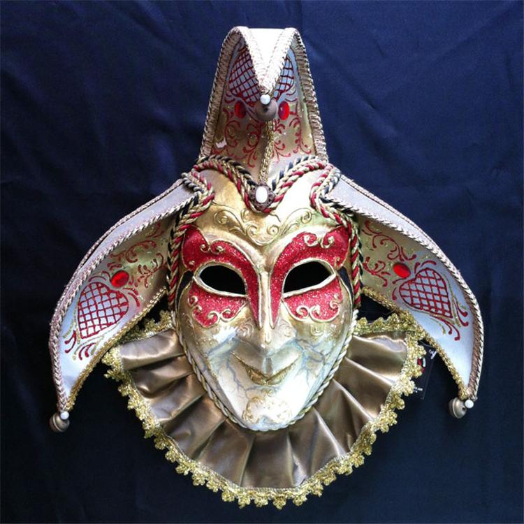深圳万圣节面具批发直销威尼斯全脸纸浆化妆表演手绘面具批发