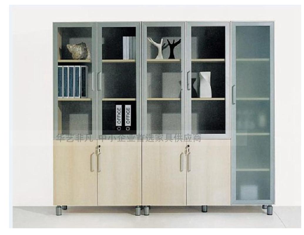 可定制板式文件柜厂家直销玻璃门文件柜办公储物柜图片