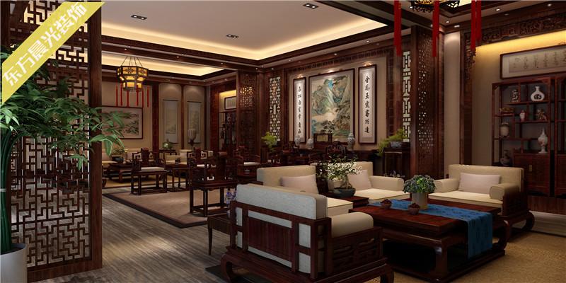 中式四合院室内装修效果图设计图片