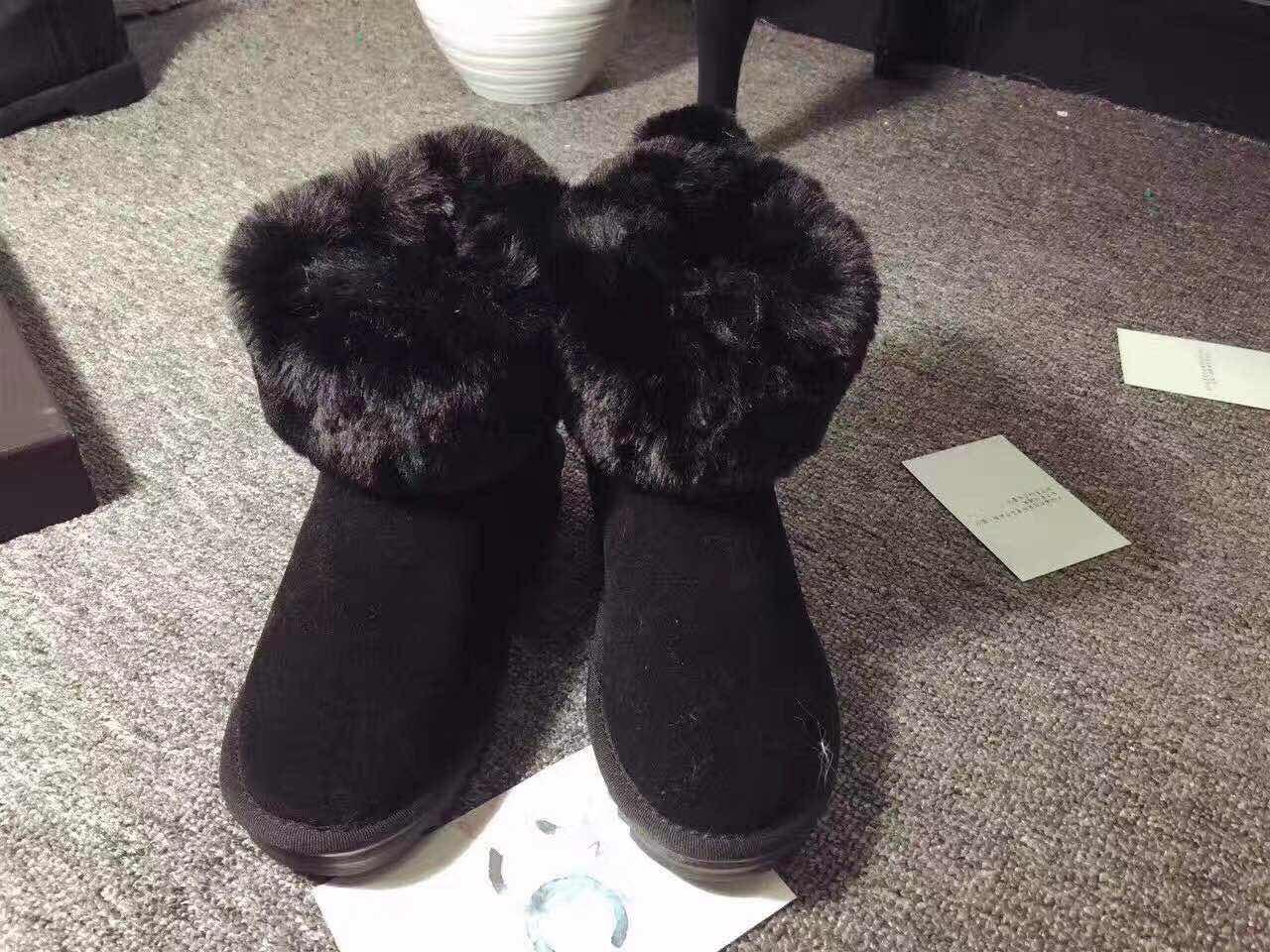 [供应]兔耳朵雪地靴女短筒郑恺韩版可爱百搭兔兔鞋 商标:完好 产地