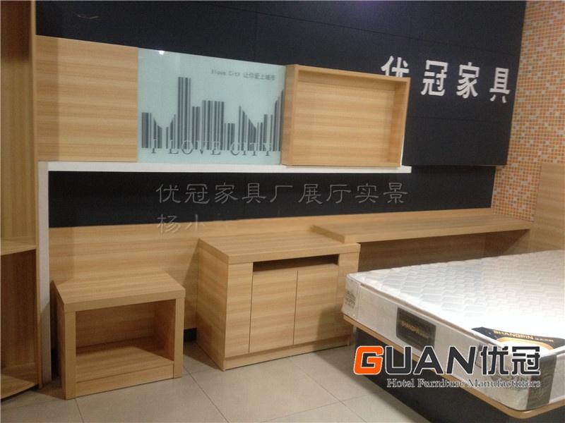 东莞优冠衣柜便捷款酒店家具床生产城市工艺厂家具设计桌椅写字与图片