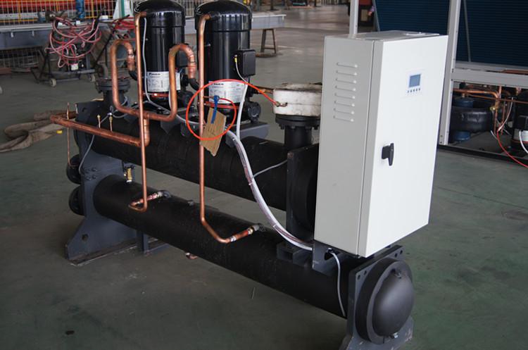 山西煤改电水源模块式涡旋热泵机组v水源cad中模拟图片