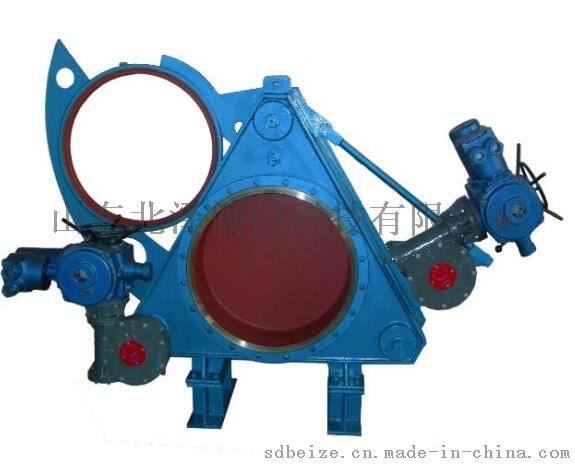 供应山东北泽f943x电动扇形盲板阀图片