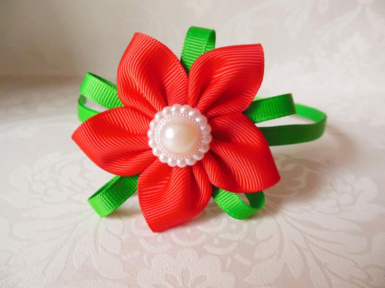 韩版 手工儿童发饰头饰 双色套装发箍发夹发绳花朵 五