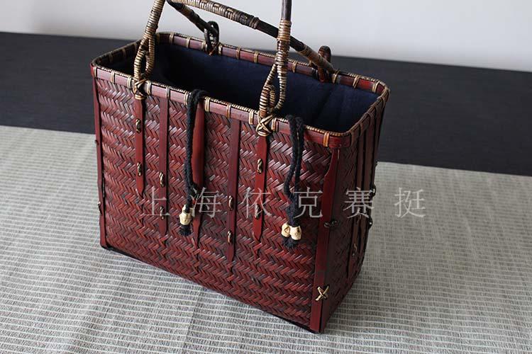 工艺手编竹篮包装包具