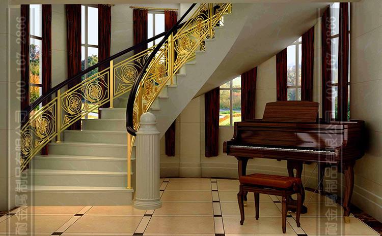古铜色楼梯扶手图片图片