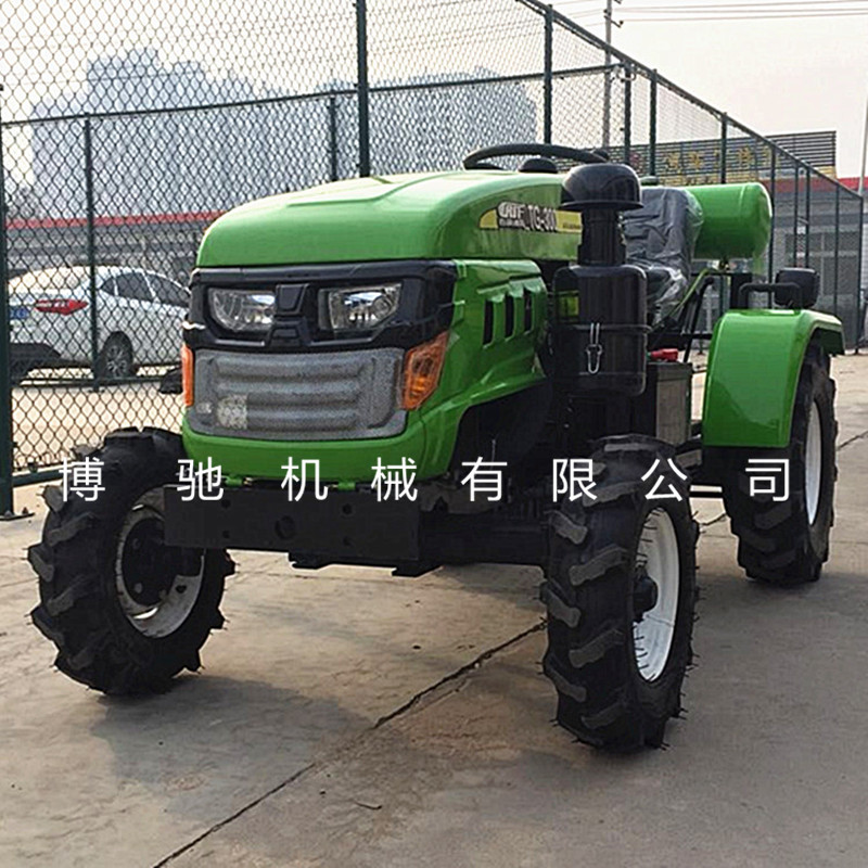 沐风300小型四轮拖拉机 四驱田园管理机 低矮型四轮旋耕机