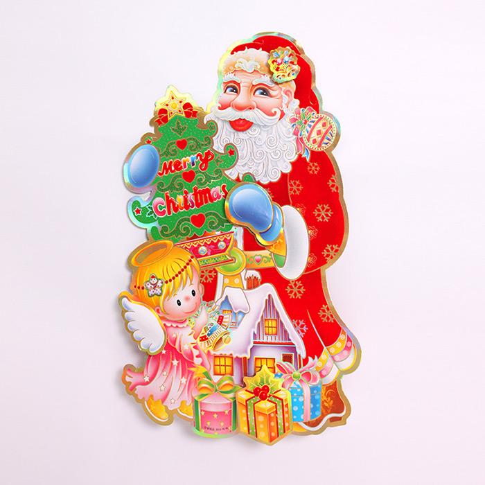 立体圣诞老人双面贴画