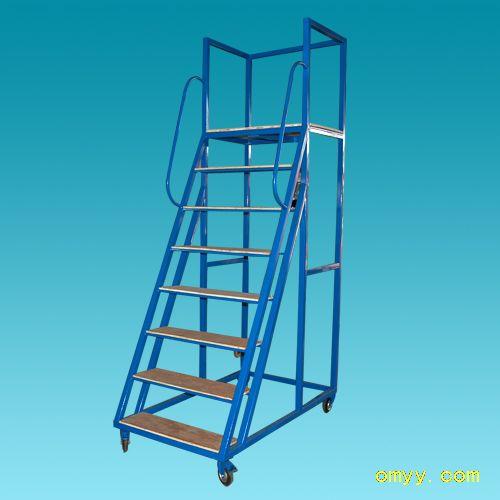 商场登高梯及折叠式登高梯等,配合货架及手推车的使用,能极大地提升图片