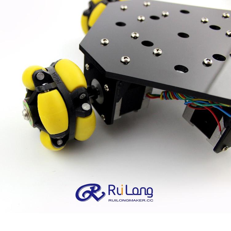 智能全向移动平台 第3版 步进电机 遥控机器人