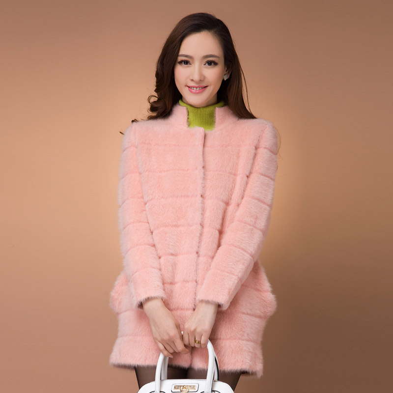 深圳大码时尚女装 貂绒大衣