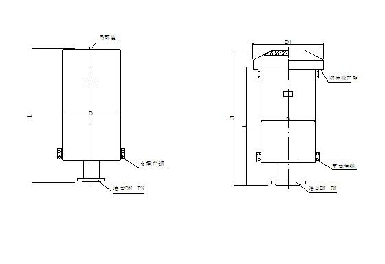 蒸汽排气消声器,主要用于电力,化工、冶金,矿山、纺织工业锅炉蒸汽排放等设备。徐州艾迪生产的XSQ-ZP型蒸汽排气消声器参照行业标准,结合众多工况研制而成,有效消除噪音,给工作带来舒适的环境。XSQ-ZP型蒸汽排气消声器XSQ-ZP型消声器外形图XSQ-ZP型消声器适用降低各种锅炉中(安全阀)的蒸汽放空噪声,采用节流小孔喷注复合结构,具有体积小、消声量好、安装方便等特点。其外形图和技术参数表如下:XSQ-ZP型蒸汽排气消声器技术参数表消声器型号排放流量T/H设计压力MPa消声量dB(A)入口管径DN外径D长