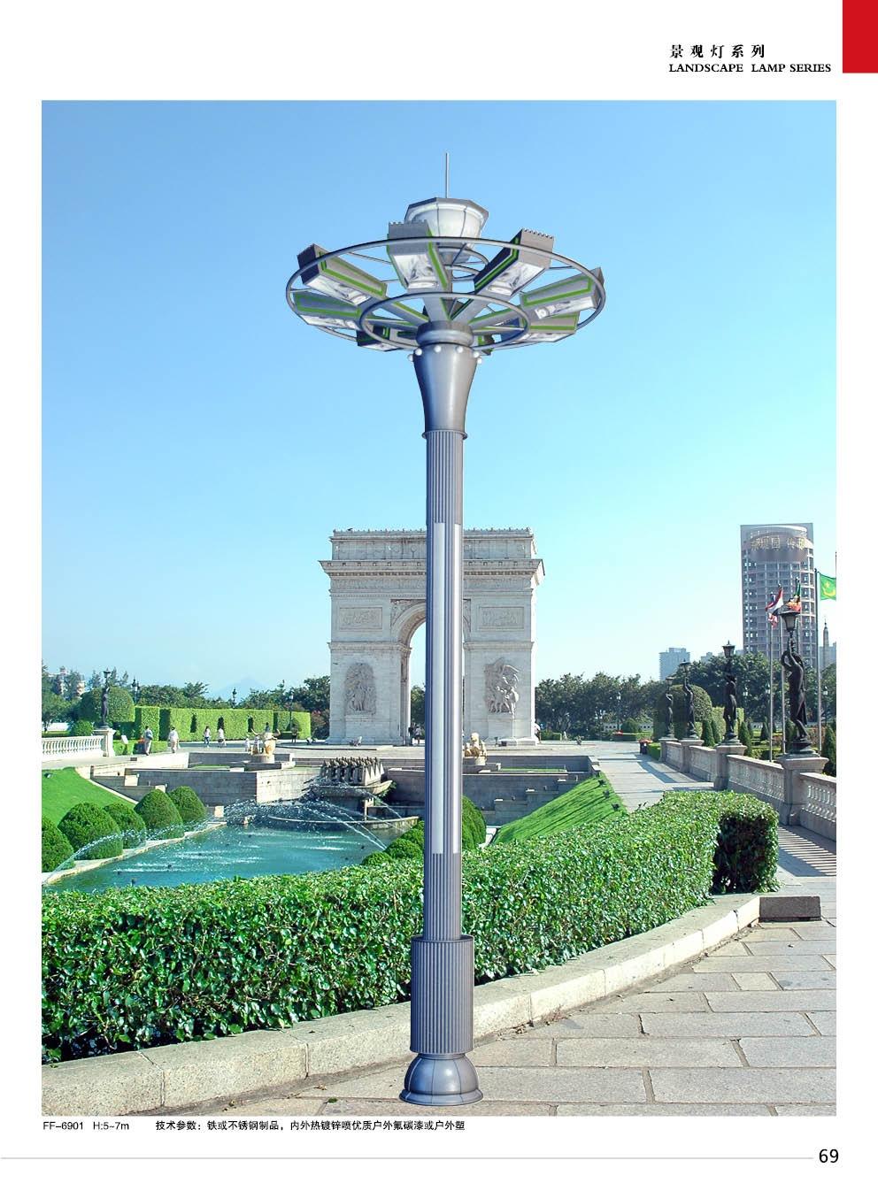 新古典方柱景区景观灯 户外小区创意造型街道路灯图片