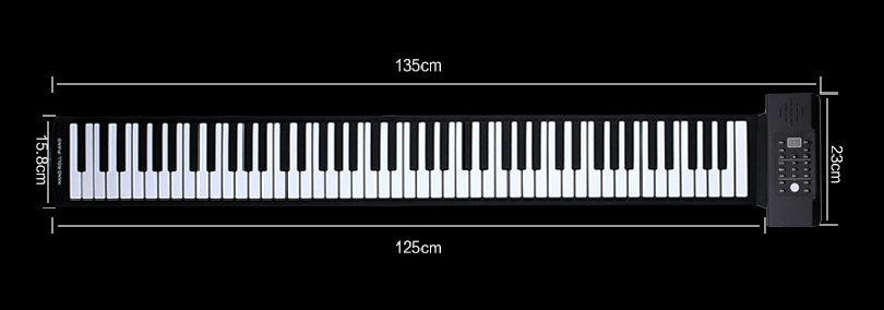 科汇兴厂家新品上市88键多功能电子琴手卷钢琴内置锂电池图片