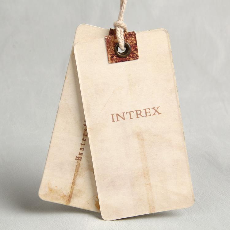 浙江印刷工厂定制高档特种纸英文复古厚吊牌