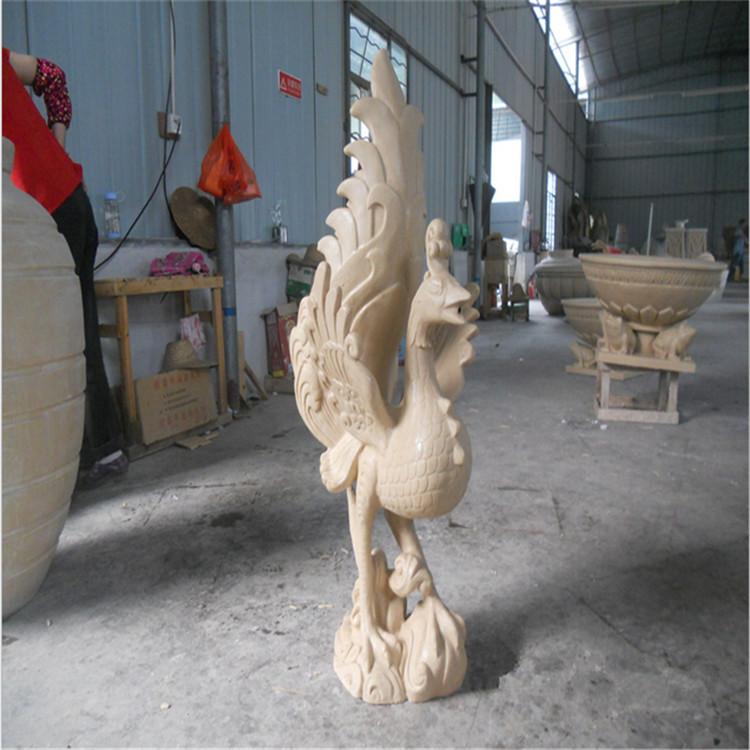 孔雀公鸡动物雕塑深圳欧泰斯玻璃钢雕塑树脂工艺品