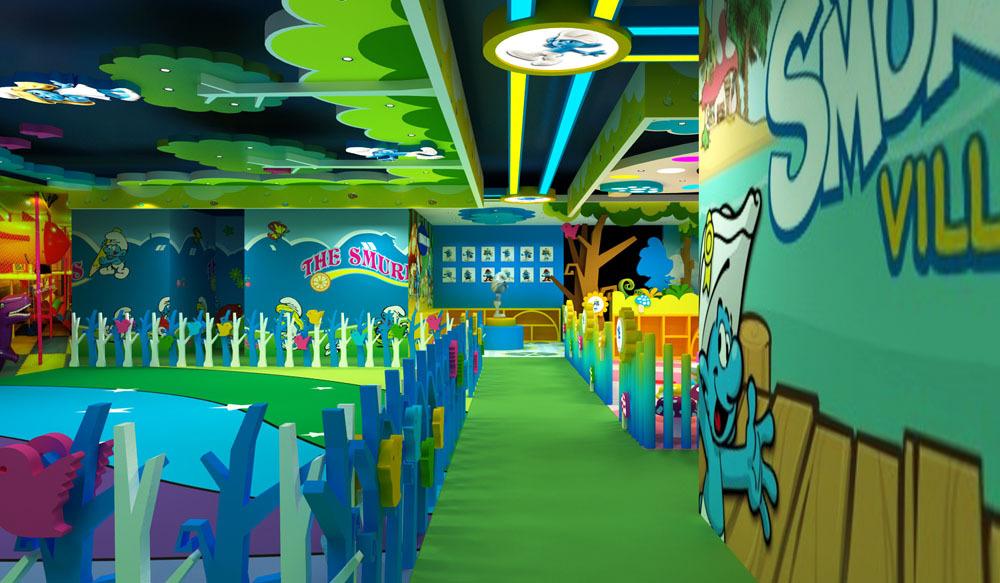 主题乐园景观艺术设计 室内游乐场艺术装修装饰