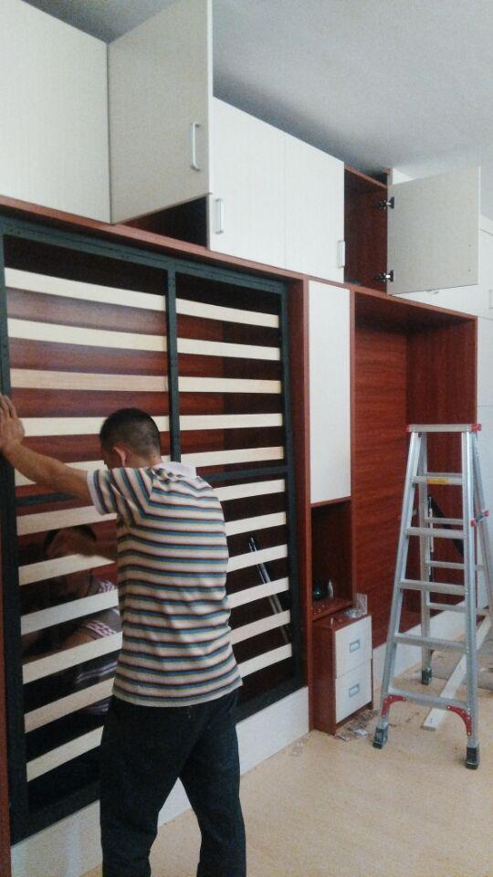 书柜组合隐形床多功能家具图片