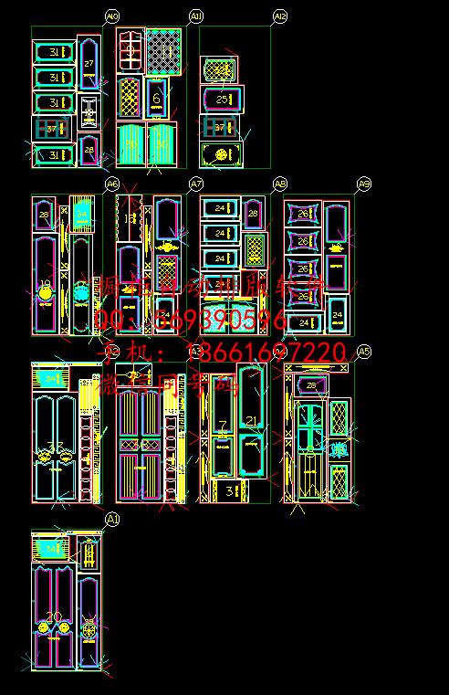 云承软件设计软件,阿尔法房屋雕刻门板柜体设计图长9米宽5米图片