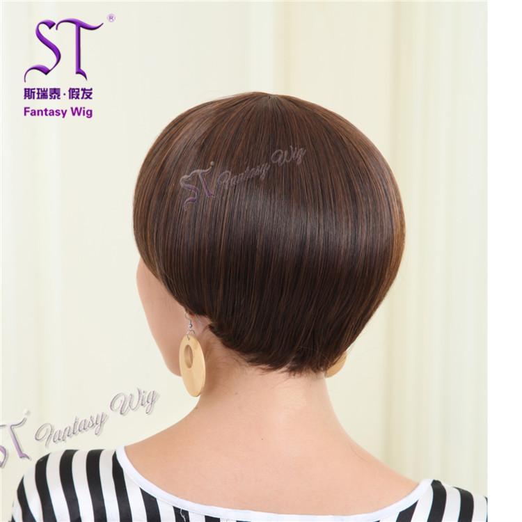 日韩版蘑菇头假发 蓬松甜美可爱bobo头短直发假发厂家图片