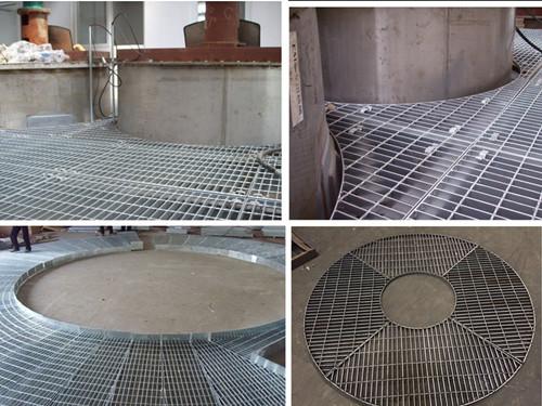 扇形钢格板/操作平台钢格板,吸收塔平台钢格板