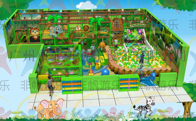 儿童游乐园淘气堡设备欢乐王国, 我们非帆游乐会根据您的场地设计出