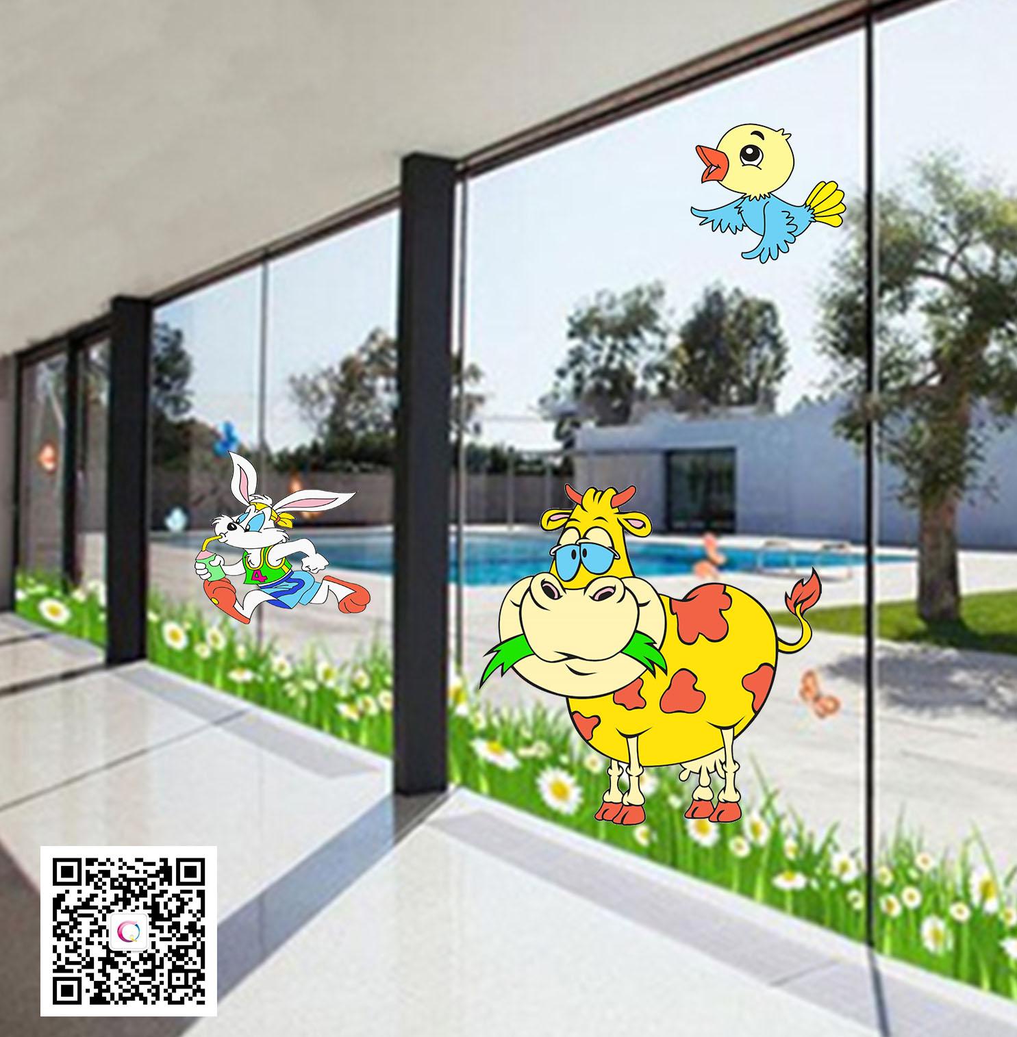 幼儿园玻璃门装饰图_幼儿园玻璃大门的布置-幼儿园大门口布置图片_玻璃大门效果图 ...