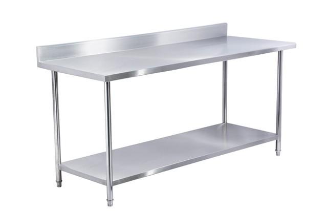 加工定做201或304不锈钢工作台操作台桌子图片