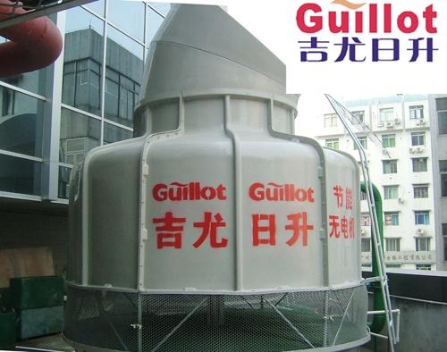 超低逆流冷却塔175冷吨圆形噪音玻璃钢冷却塔帕萨特三元催化器图片