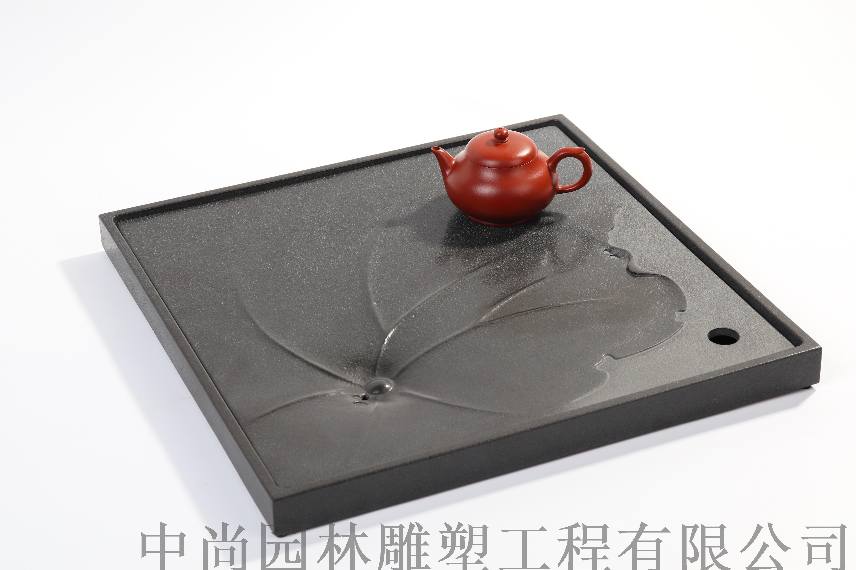 点心石面粉***原石原创石茶台石茶海含笑迎风乌金做茶盘图片