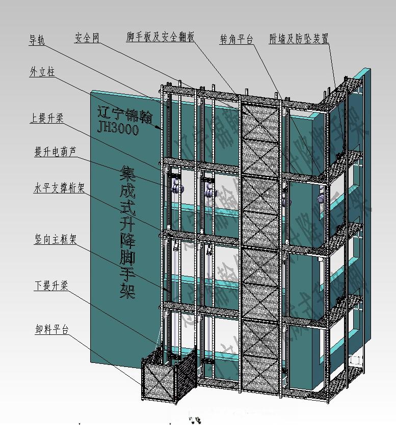 太原山西JH-01型爬架/山西太原附着式升降脚手架制作如何音乐图纸带图片